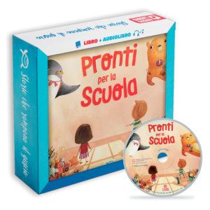 Immagine albo illustrato libro per bambini Pronti per la scuola di le tartarughe marine con cd e versione audio con audiolibro