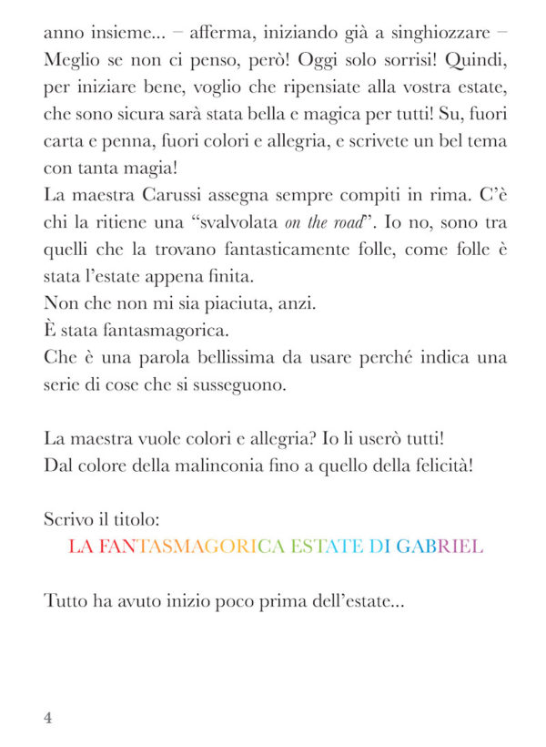 Come un'onda, libro di narrativa, pagina 2