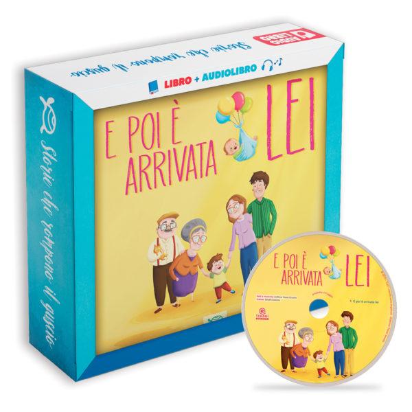 Immagine albo illustrato libro per bambini E poi è arrivata lei di le tartarughe marine con cd e versione audio con audiolibro