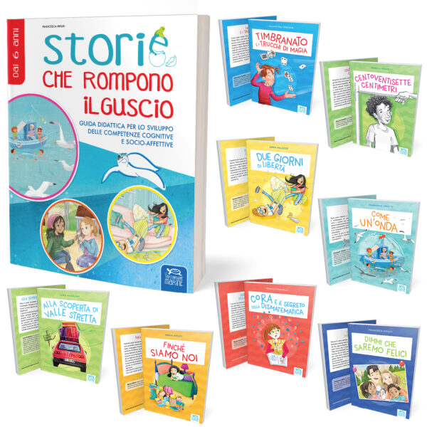 Kit lettura completo composto da Guida didattica per l'insegnante più 8 libri divisi in fasce d'età per la Scuola Primaria